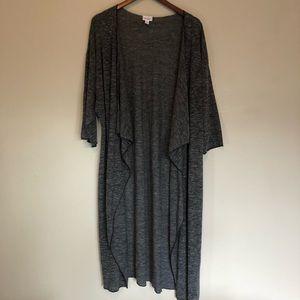LuLaRoe Black Tweed Shirley Kimono